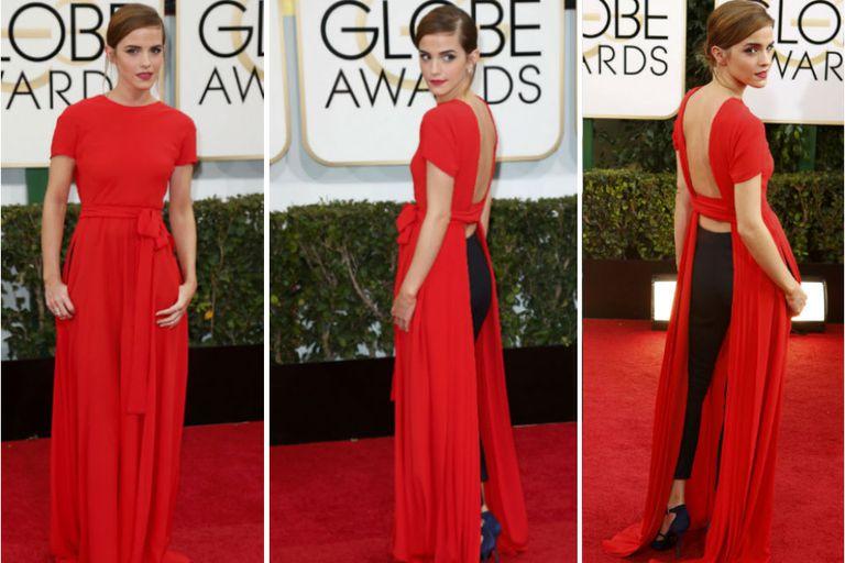 El vestido con sorpresa de Emma Watson en los Globos de Oro