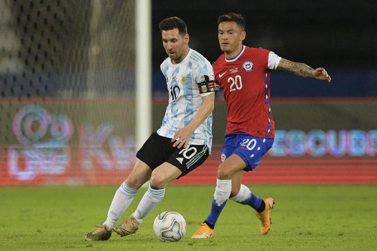 En el partido de apertura, que jugaron contra Argentina, Chile lució el sello de Nike
