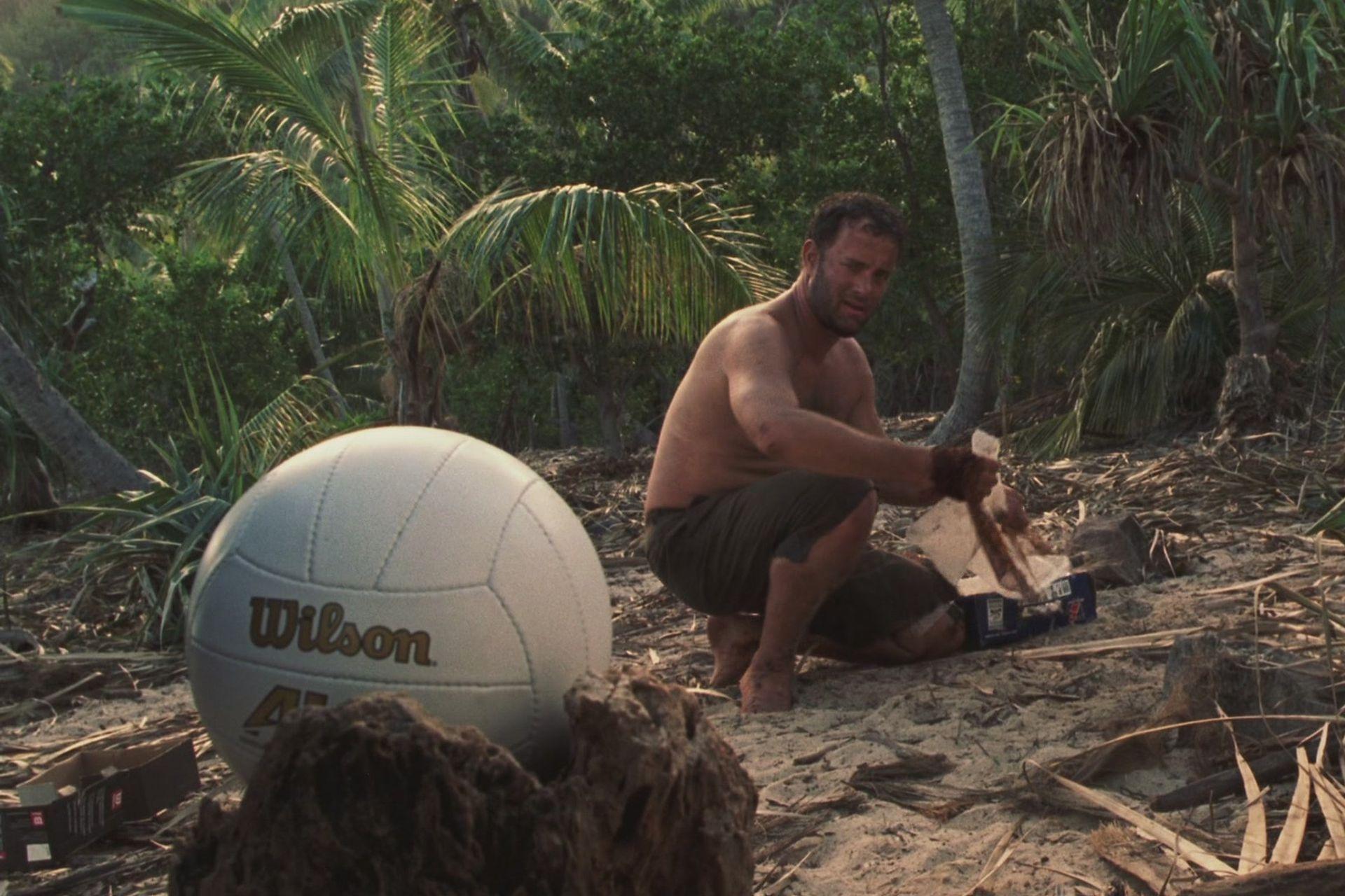 """El protagonista de Náufrago y su único """"amigo"""" en la isla solitaria, una pelota de voley"""