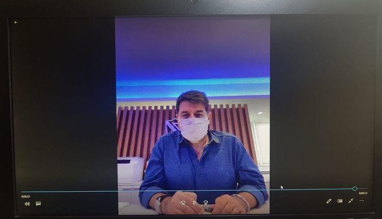 Sergio Rapisarda, presidente de Vélez, en su indagatoria virtual