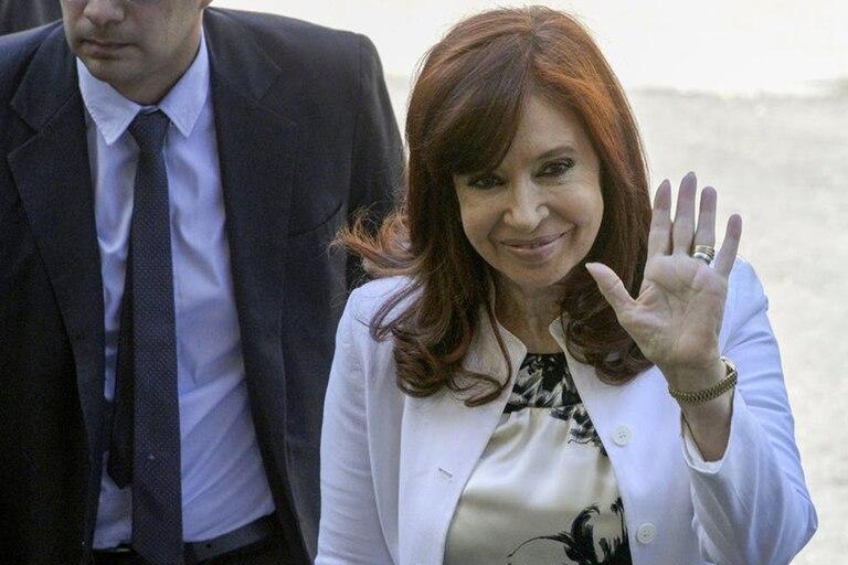 La vicepresidenta Cristina Kirchner eligió una foto de el expresidente Néstor Kirchner para conmemorar la fecha