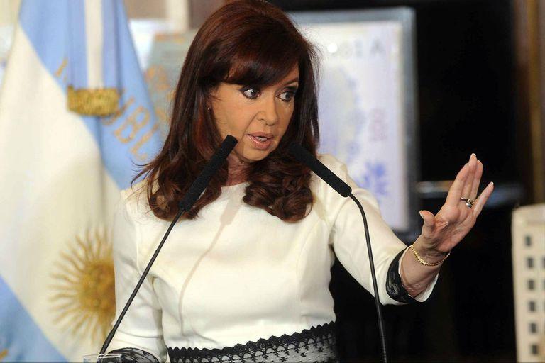 Crisitna, en su discurso en la cadena nacional