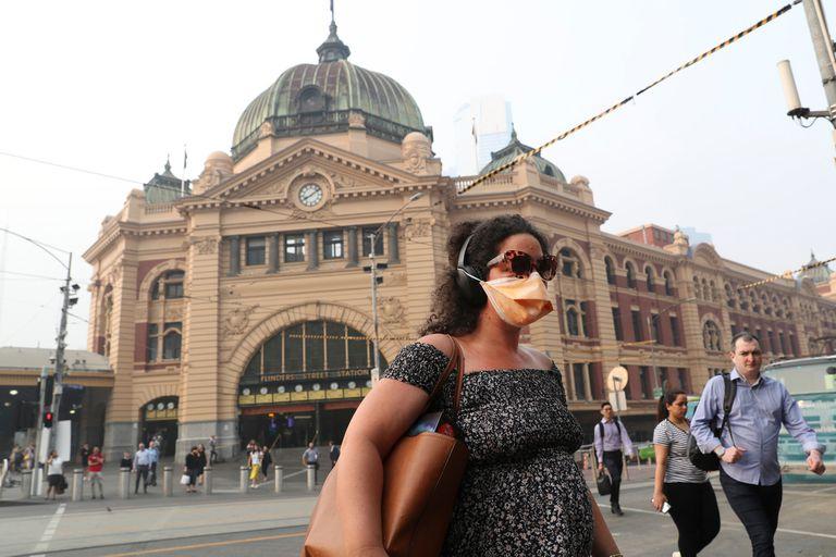 Así estaba el martes la estación central Flinders, en pleno centro de Melbourne