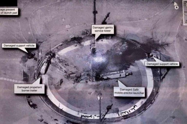 En 2019 Trump reveló una foto clasificada de una supuesta plataforma de lanzamiento espacial iraní