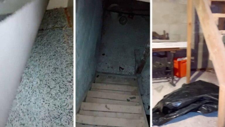 Bajo una alfombra vieja descubrió una puerta de madera que conducía hacia un espacio vacío