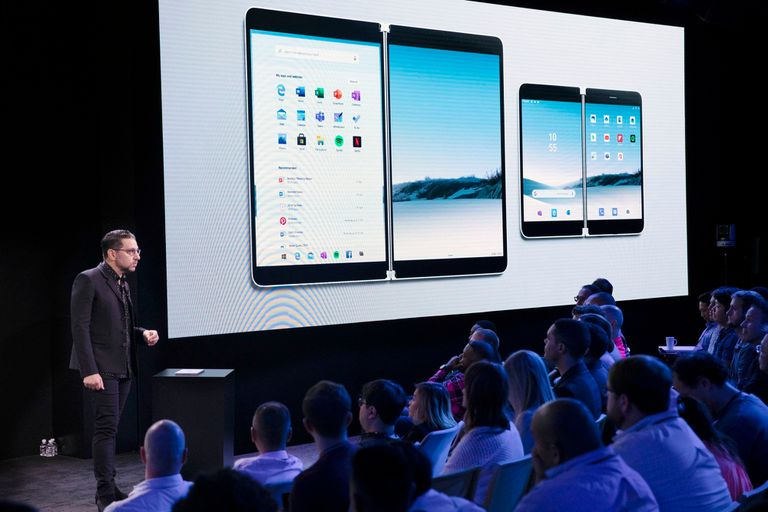 Microsoft adelantó hoy el diseño de la Surface Neo (una tableta de doble pantalla) y Surface Duo, un teléfono con un diseño similar