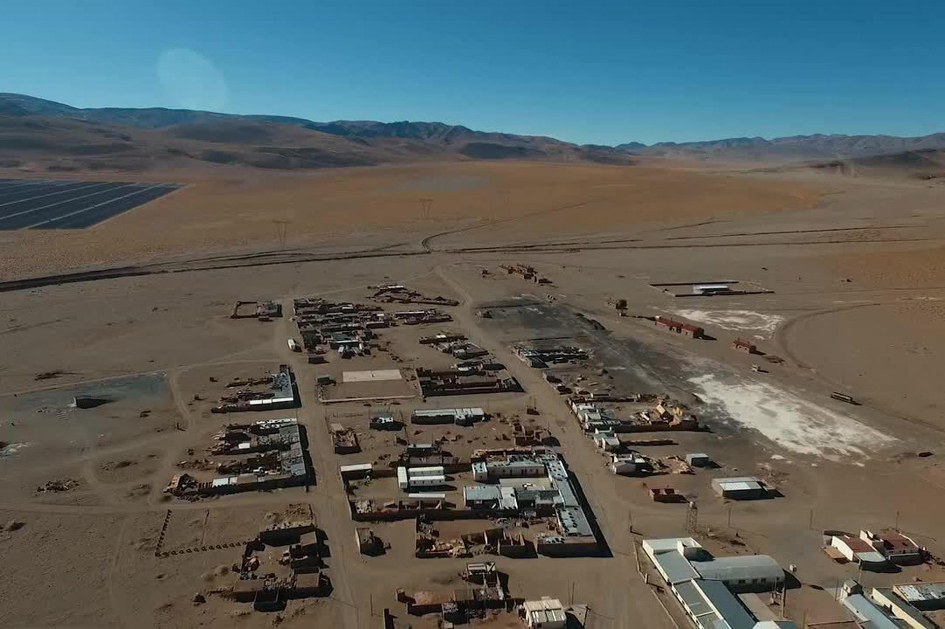 Vista de Olacapato el pueblo más alto del país
