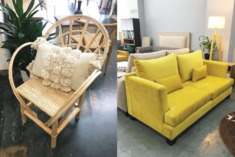 Izquierda: sillón de exteriores en Oranias. Derecha: sillón de dos cuerpos de InNova.
