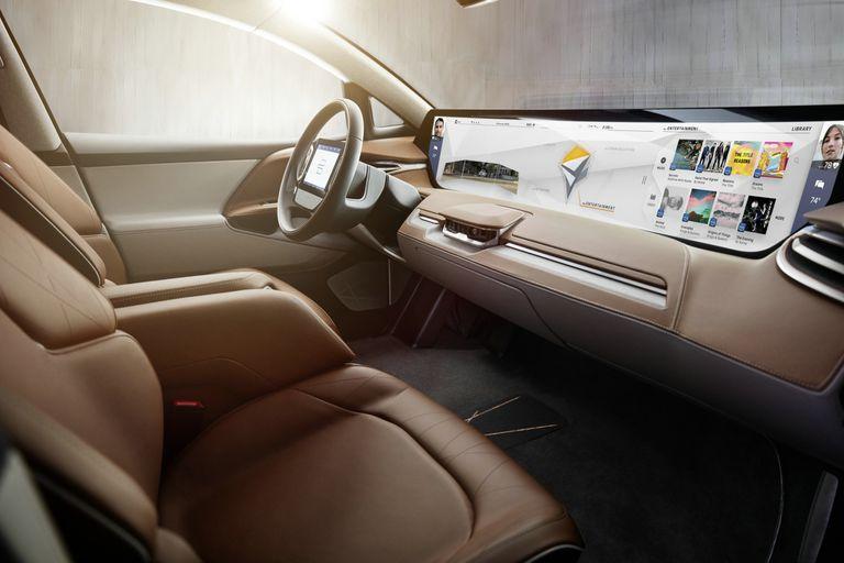 Futurista. Interior del Byton, el vehículo eléctrico y autónomo creado por los chinos que quiere competir con Tesla