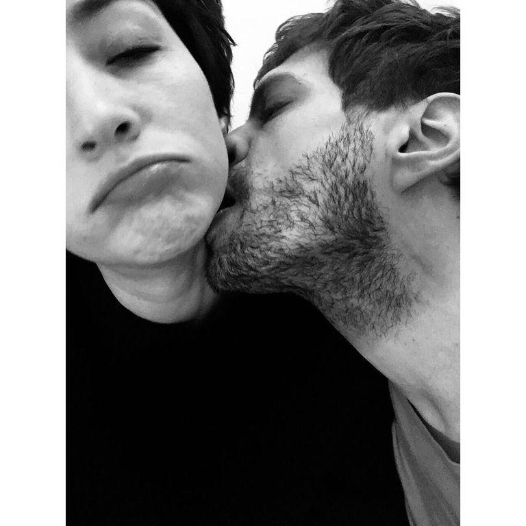 Una de las pocas imágenes que compartió la actriz con su nuevo novio en su cuenta de Instagram