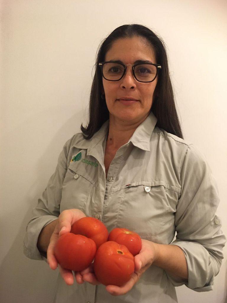 La ingeniera agrónoma Mariela Pletsch, que le respondió al cocinero
