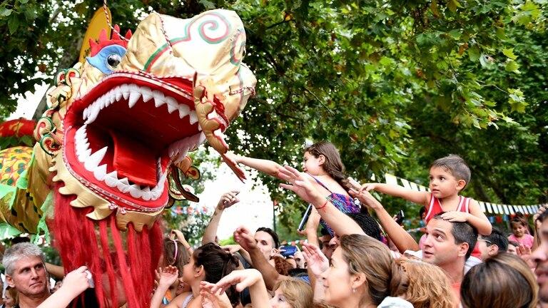 Una multitud celebró en Buenos Aires el año nuevo Chino