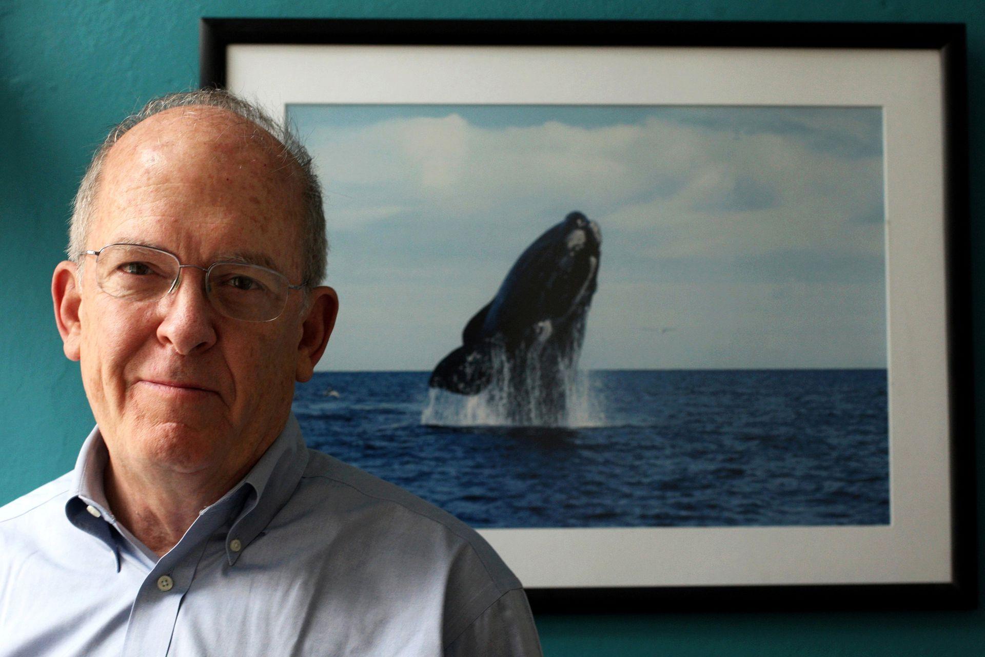 Roger Payne, es Presidente y fundador del Ocean Alliance. Desde 1967 ha estudiado el comportamiento de las ballenas, condujo más de 100 expediciones en todos los océanos