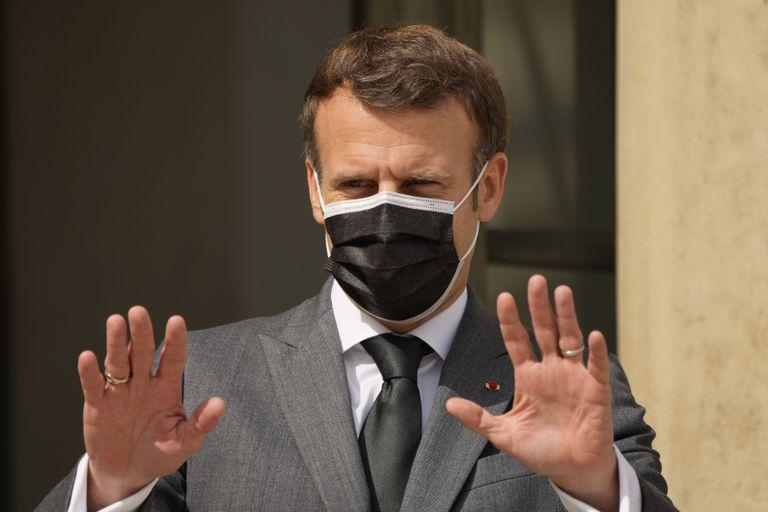 El presidente francés, Emmanuel Macron, en París. (AP Foto/Francois Mori)