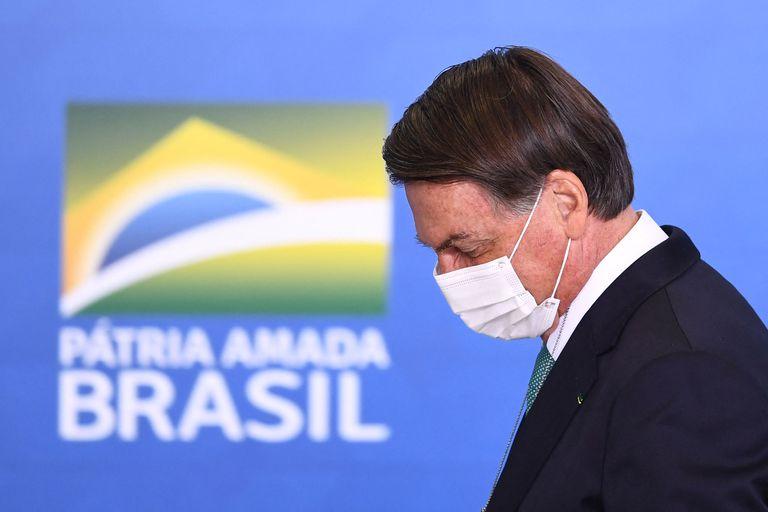 El presidente Jair Bolsonaro fue criticado por su gestión frente a la pandemia dese sus inicios el año pasado y por su férreo rechazo a las medidas de distanciamiento social