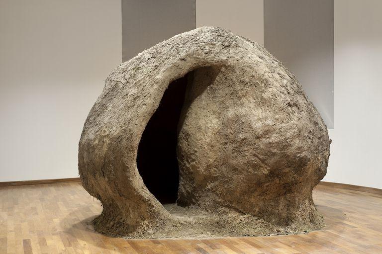 El nido del CCK es un 30% más grande que la obra original, exhibida en el CAyC en 1976