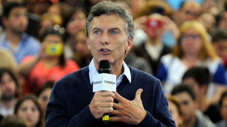 Macri ayer en un acto en La Plata