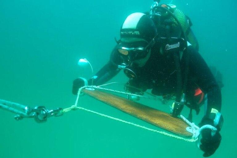 La mirada de un arqueólogo debajo del agua