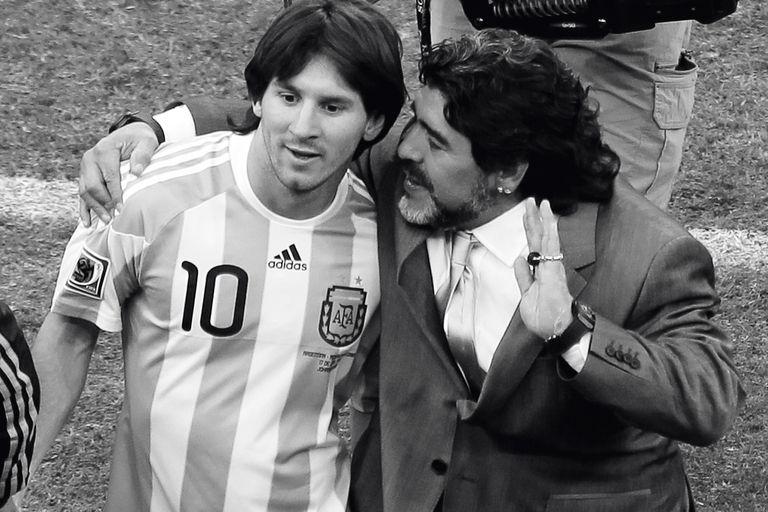 Con Maradona, en el Mundial 2010