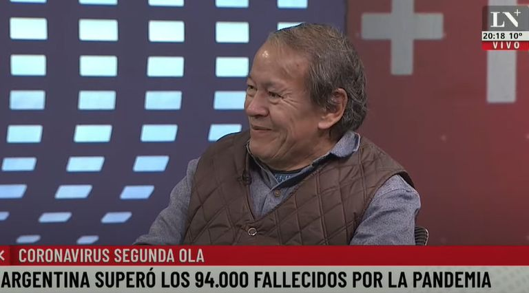 Toty Flores en la entrevista con Viale
