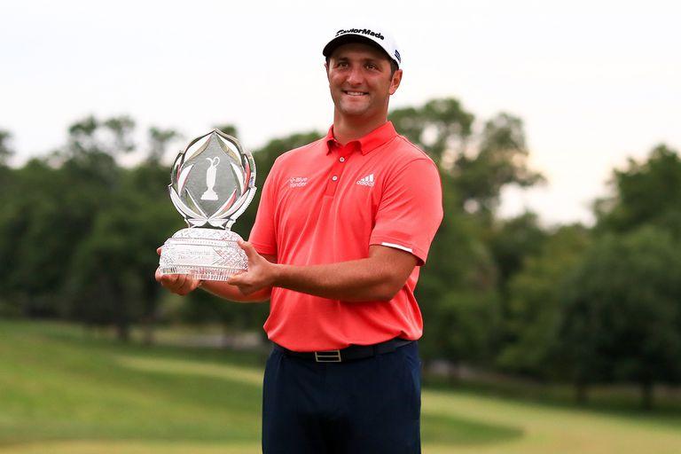 La postal del éxito: Rahm campeón del Memorial y nuevo Nº 1