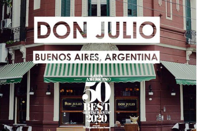Don Julio fue elegido como el mejor restaurante de América Latina