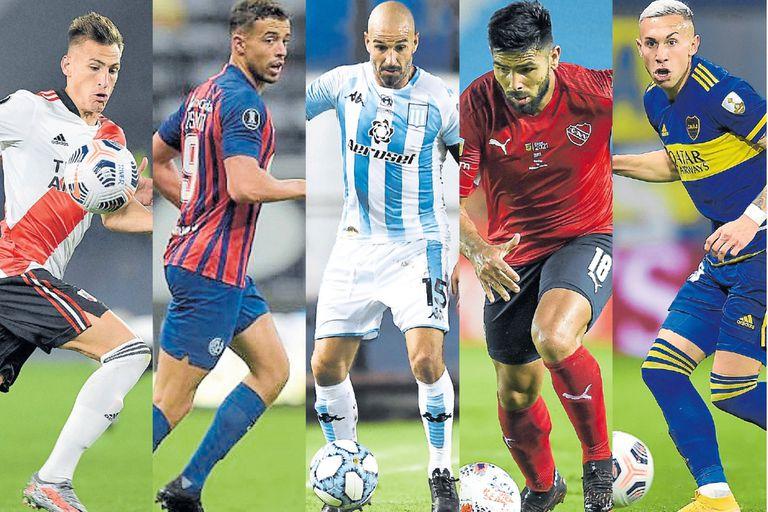 Grandes con diferentes situaciones: Braian Romero, Franco Di Santo, Lisandro López, Silvio Romero y Norberto Briasco