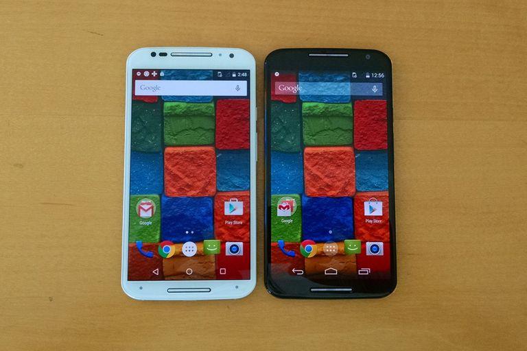 Las dos opciones de colores de frente en el nuevo Moto X