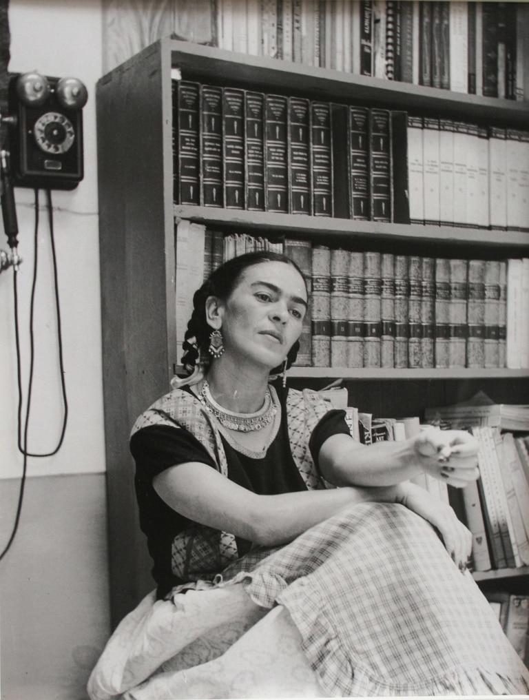 Retrato de Frida tomado por Antonio Kahlo, sobrino de la pintora y padre de Cristina