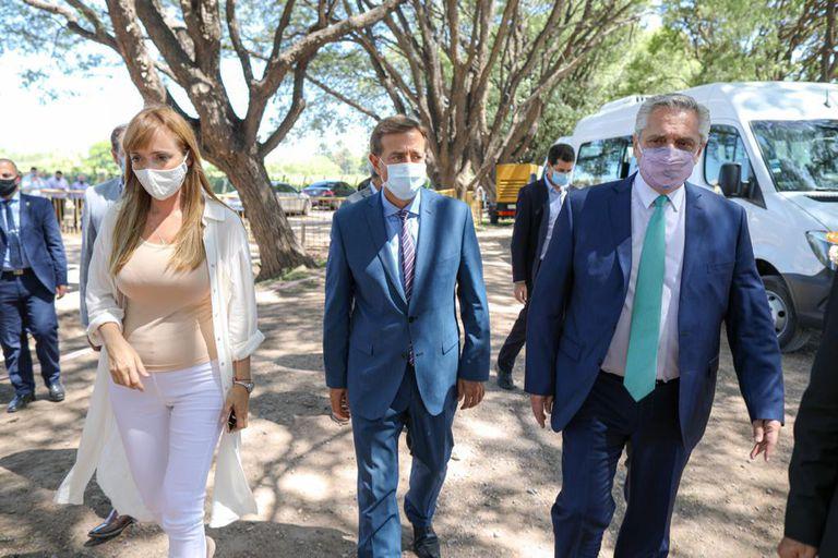 El presidente Alberto Fernandez en la Pcia. de Mendoza