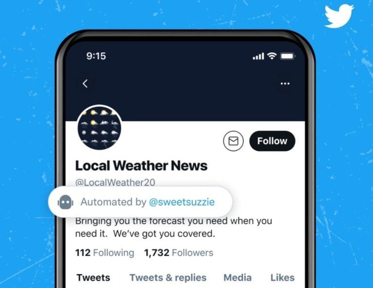 Twitter comienza a identificar las cuentas automatizadas o bots que publican en al red social
