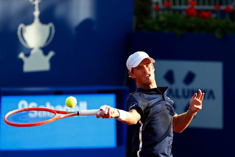 Diego Schwartzman durante su partido con Pablo Carreño Busta por los cuartos de final del Torneo de Conde de Godó