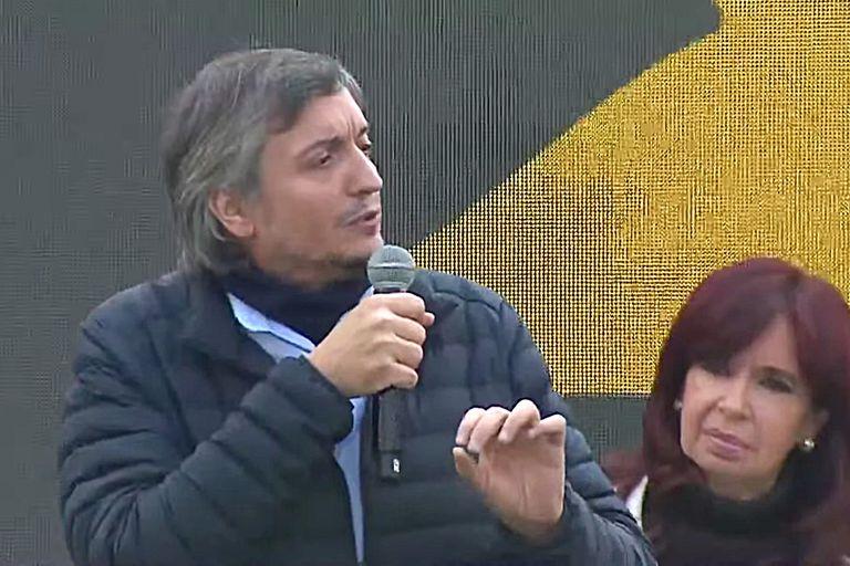 Máximo Kirchner en el Plenario del Frente de Todos en La Plata