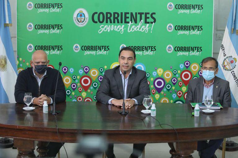 El gobernador de Corrientes Gustavo Valdés brindó una conferencia de prensa por el caso del diputado Miguel Arias