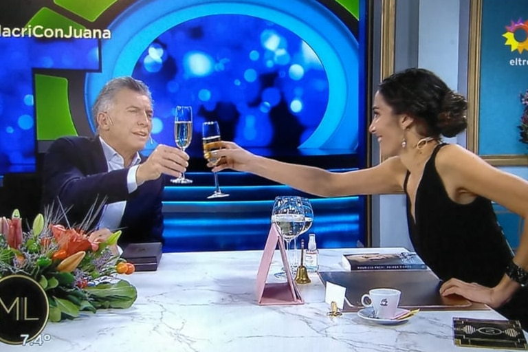 Deseo: Macri brindó por la Argentina y le hizo un pedido especial a Juana Viale