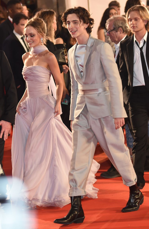 Lily Rose Depp y Timothée Chalamet