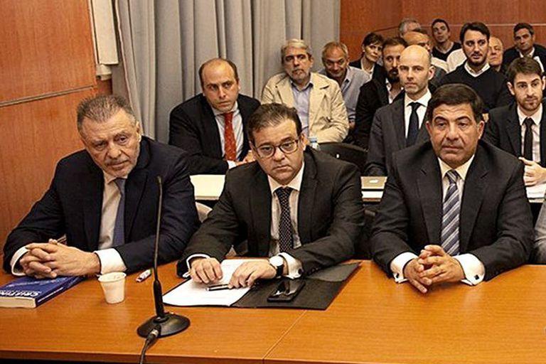 Cristóbal López y Ricardo Echegaray el día en el que se inició el juicio de Oil