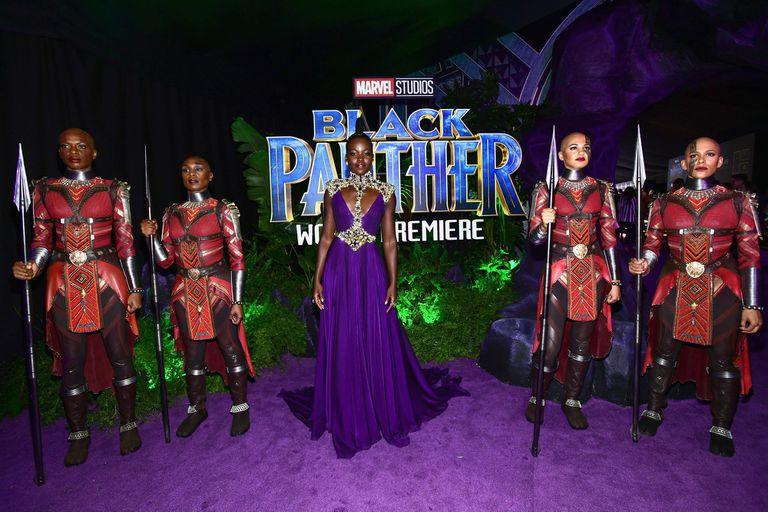 Todos los coloridos looks de la avant premiere de Pantera Negra