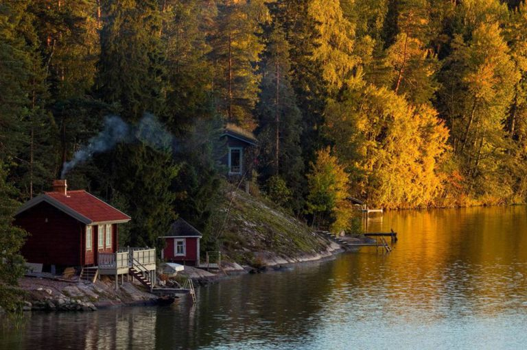 En Finlandia, las cabañas se pueden contar de a miles