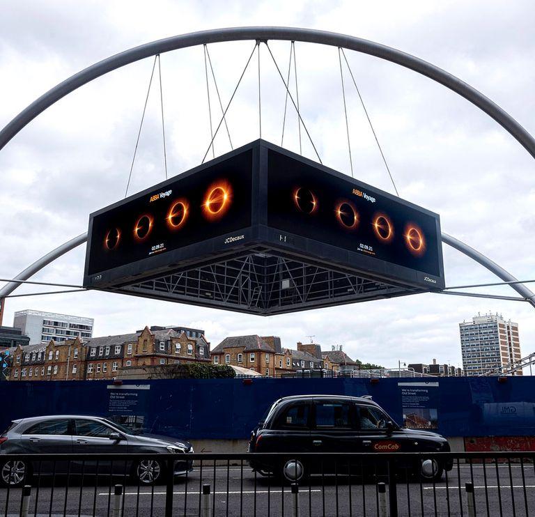 La promoción que ABBA hace en Londres de su regreso