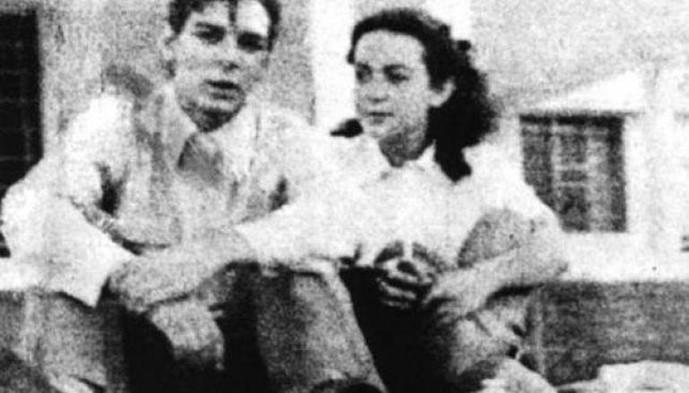 """""""Chichina"""" Ferreyra y Ernesto Guevara cuando eran novios"""