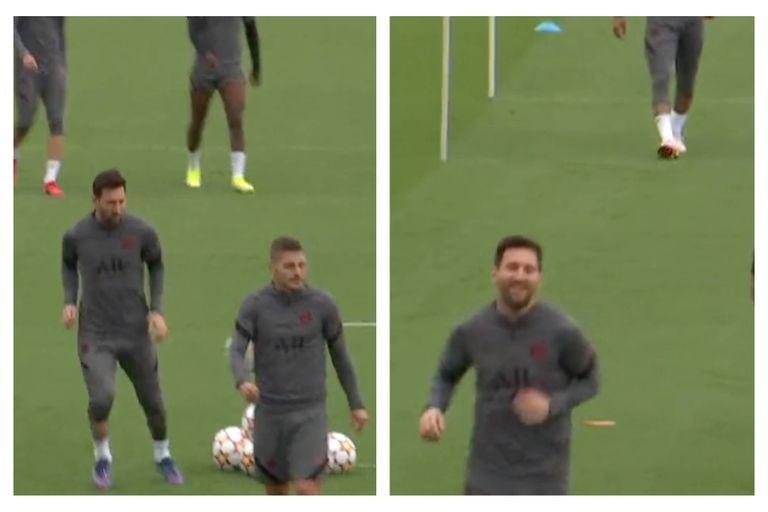 La broma de Messi a Verratti en el entrenamiento del PSG