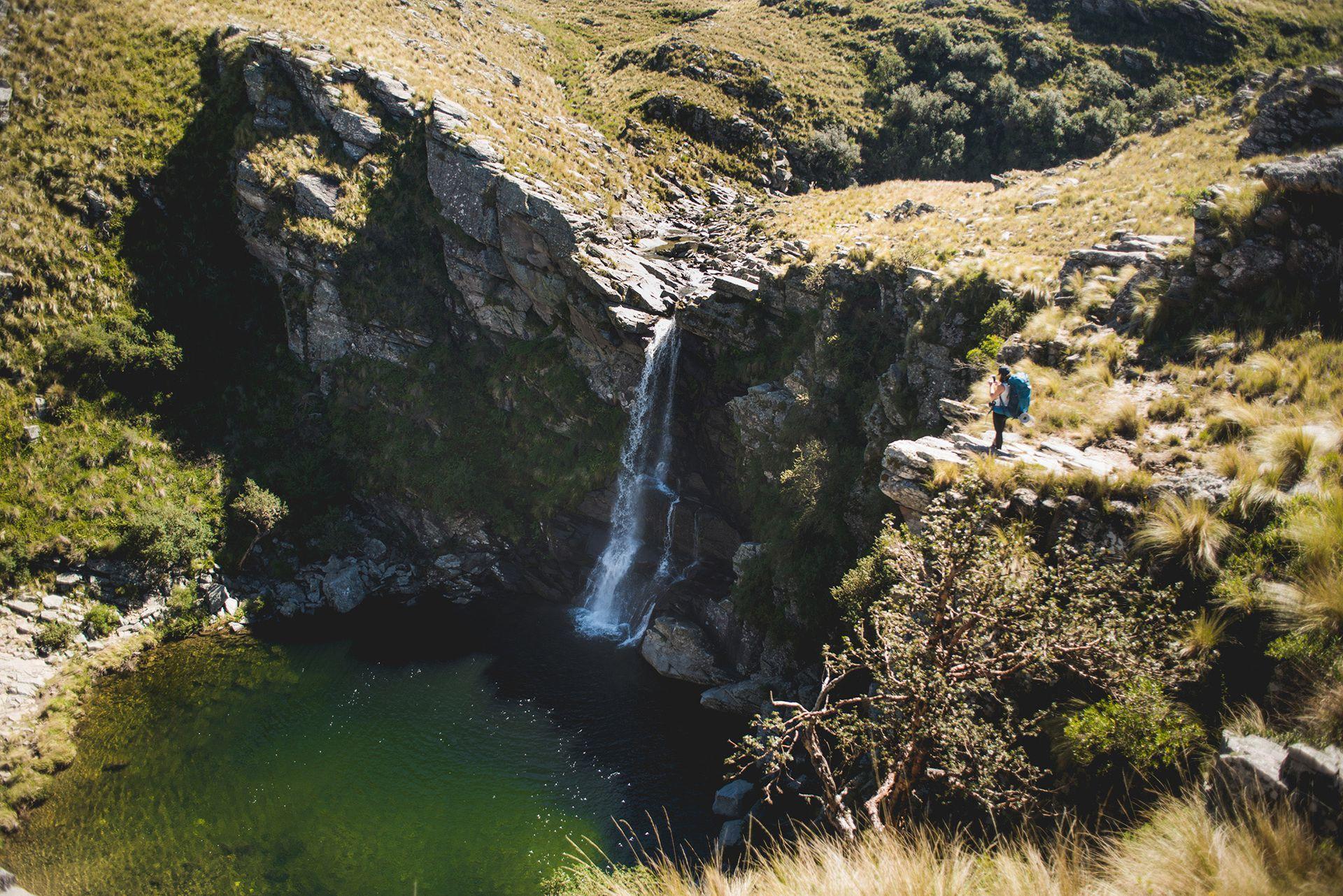 Salto del Trigre, uno de los atractivos del trekking a Pueblo Escondido
