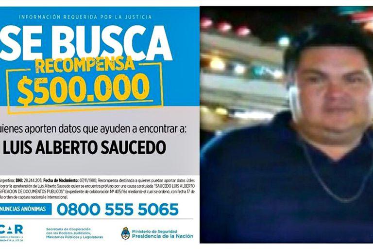 Había recompensa para quien aportara datos para detener a Saucedo
