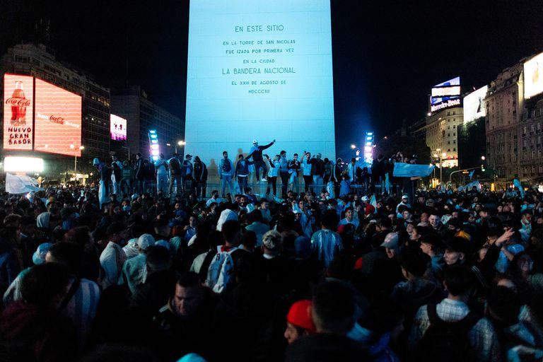 Argentina Campeon Copa America 2021. Festejos en Obelisco