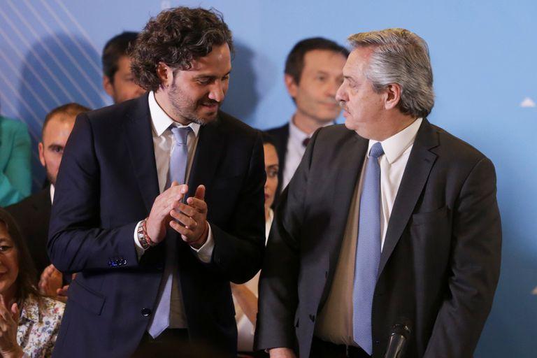 Alberto Fernandez y Santiago Cafiero