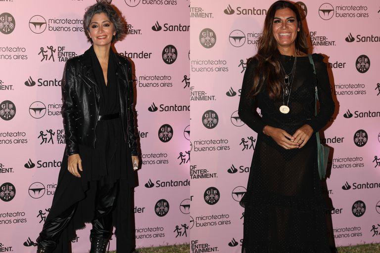 Carla Conte y Florencia de la V eligieron looks en total black para disfrutar una noche de teatro y música en La Rural