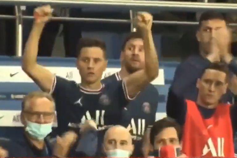 La fría reacción de Messi en el gol de Icardi de la que hablan en Francia y una posible lesión