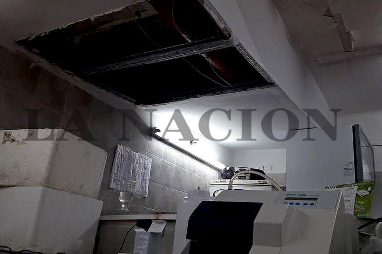 Techos deteriorados en el Iriarte de Quilmes