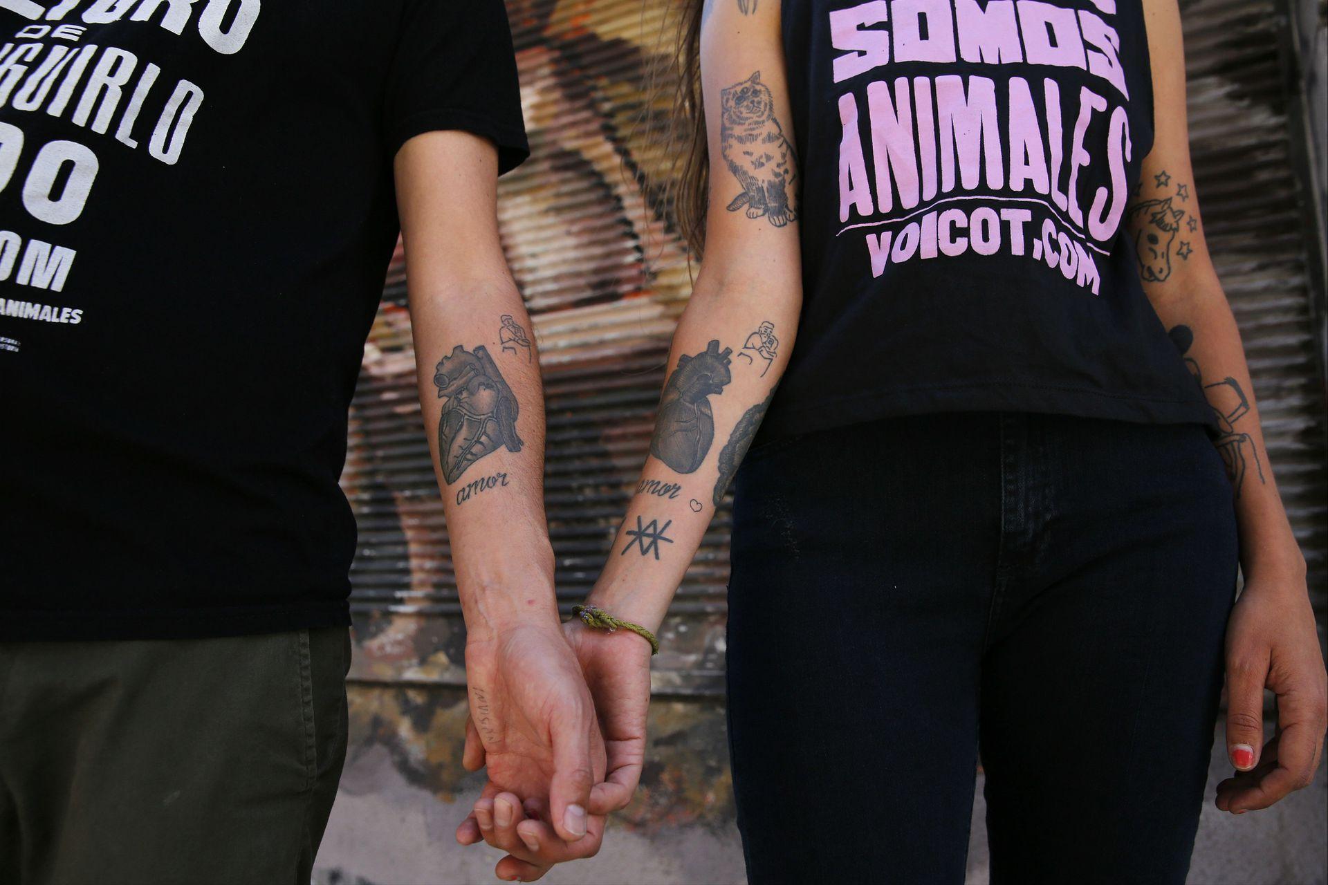 Los tatuajes de Federico y Malena